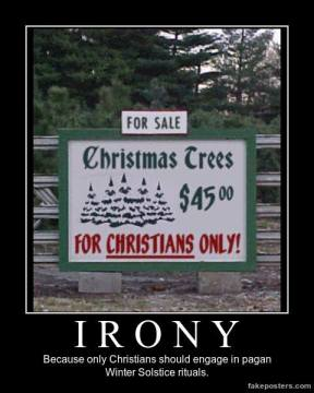 Christmas tree for Christians Only